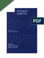 Intonation Systems 1999