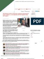 """"""" Pide Bulmaro Pacheco al Ejecutivo respetar la autonomía del Poder Legislativo, y a los diputados del PAN dignificar labor del Congreso"""""""