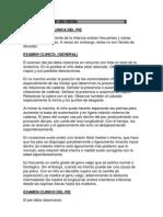 Exploracion Clinica Del Pie y Rodilla