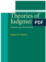 [Wayne Martin Theories of Judgment Psychology