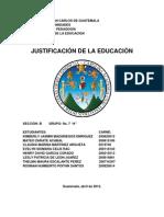 La Justificacion de La Educacion