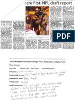 You Heard It First NFL Draft Report - Tyler Rogoff - Monroe CCC - Sports Column