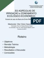 Frentes Agrícolas de Irrigação e Zoneamento Ecológico-Econômico