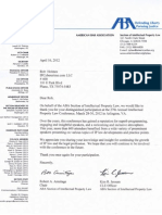 American Bar Association ABA Commendation Letter to Rob Holmes 2012-APR-16
