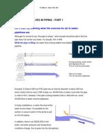 Air and Air Valves in Piping