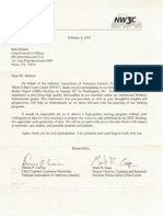 National Association of Attorneys General NAAG Commendation Letter to Rob Holmes 2010-FEB-04