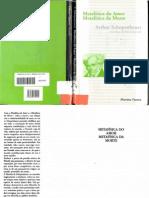 SCHOPENHAUER, Arthur.  Metafísica do amor, metafísica da morte