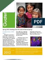 Storer Spring 2012 Newsletter Full Color