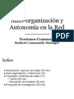 Auto Organizacion y Autonomia en La Red