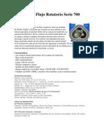 Medidor de Flujo Rotatorio Serie 700