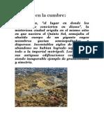 """""""REGINA - Dos de Octubre no se olvida"""", Capítulo I  El aguador derrama su cántaro"""