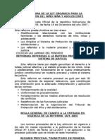 Aspectos Generales de La Reforma de Lopnna Colegio de Abogados. El Proceso Ordinario Lopnna[1]