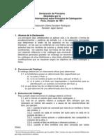 Declaración de Principios de París 1961