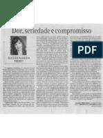 Dor, seriedade e compromisso - O  Popular - edição 18-04-2012