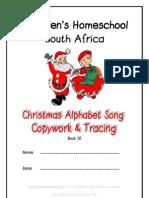 Christmas Alphabet Song, Copywork, DOnnette E Davis, St Aiden's Homeschool
