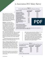 2011 Ohio Pharmacist Salary Survey with Charts