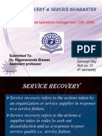 Service Recovery & Service Guarantees
