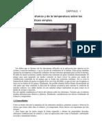 Efectos del esfuerzo y de la temperatura sobre las estructuras metálicas