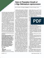 Effects of 46 Dyes on Population Growth of Freshwater Green Alga Se-Eksfrum Capricornutum