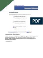 Cara Merebut Kembali Akun Facebook Kita