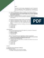 Insurance MCQ (Recall and Understanding)