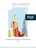 Brochure NYU Summer Intensive