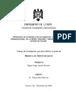 """""""PROPUESTA DE UN MODELO DE AUTOGESTION, PARA EL DISEÑO"""
