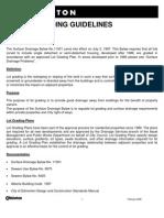 City of Edmonton Residential Lot Grading Guidelines