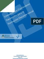 LINEAMIENTOS CURRICULARES NACIONALES PARA LA FORMACIÓN DOCENTE INICIAL - 2007