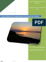 Como Afecta la Contaminación del Lago de Cuitzeo