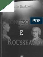 73168219 DURKHEIM Emile Montesquieu e Rousseau Pioneiros Da Sociologia Madras