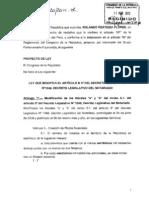 PROYECTO DE LEY NRO. 01020/2011-CR