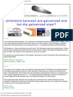 Difference Between Pre-galvanized and Hot-dip Galvanized Steel