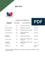26454723 List of Philippine Laws