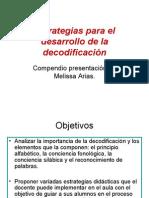 Estrategias para la comprension Compendio presentación de Melissa Arias.
