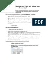 Cara Membuat Mail Merge Di Word Dengan Data Source Excel