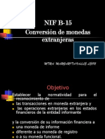 Nif b15 Conversion de Monedas Extranjeras Detallado