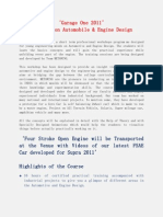 Course Catalog_Garage One_Automobile & Engine Design