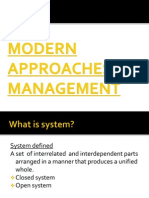 Modern Approaches to Management