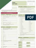 2012 Barista Short Course Enrolment Form