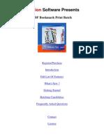 PDF Bookmark Print Batch Help