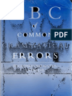 ABC of Common Grammatical Errors - Nigel D Turton