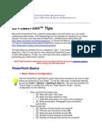 Tips on Power Pt. Presentatn
