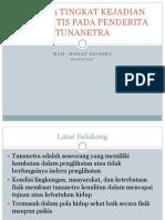 Analisa Tingkat Kejadian Stomatitis Pada Penderita Tunanetra