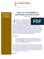 What Were the Nephilims in Relationship to the Sons of God?