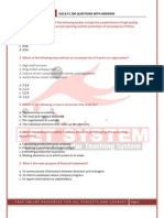 Acca f1 Mock Exam Answers