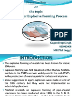 Explosive Forming Process