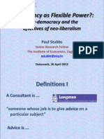 Consultancy as Flexible Power? Post-democracy and the afterlives of neo-liberalism