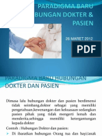 Paradigma Baru Hubungan Dokter & Pasien