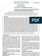 formulation & evaluation of 5fu loaded chitosan eudragit nanoparticles